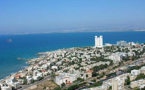 Haifa shoreline and city