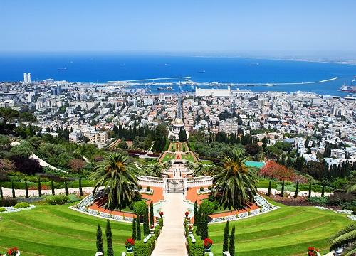 Beautiful Bahai in Haifa Israel